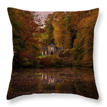 Living Between Autumn Colors Throw Pillow