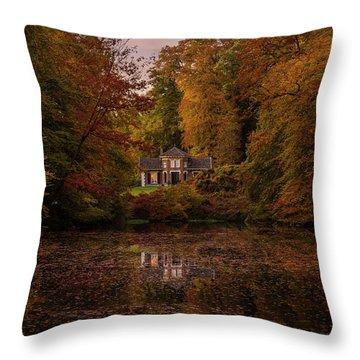 Living Between Autumn Colors Throw Pillow