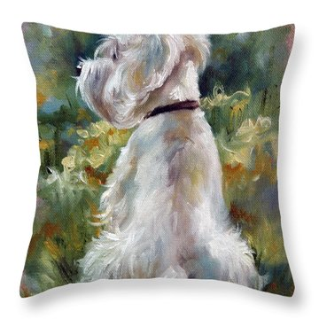 Living Color Throw Pillow by Mary Sparrow