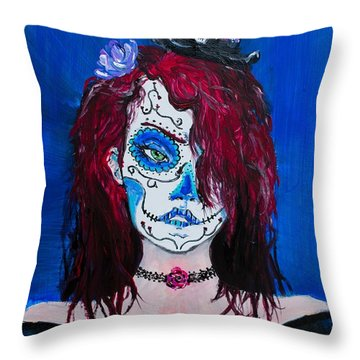 Living Dead Girl Throw Pillow
