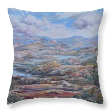 Living Desert Broken Hill Throw Pillow