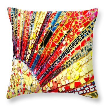 Living Edgewater Mosaic Throw Pillow by Kyle Hanson
