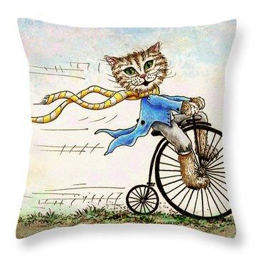 Living Flamboyantly Throw Pillow