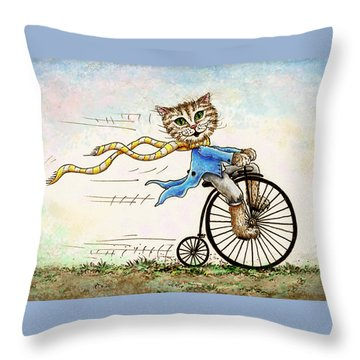 Living Flamboyantly Throw Pillow by Retta Stephenson