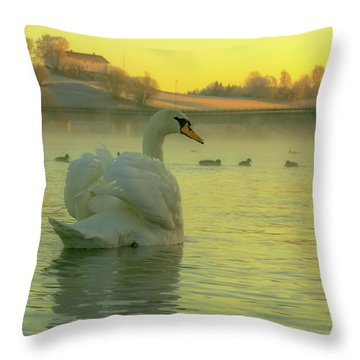 Living In Hope Throw Pillow by Rose-Marie Karlsen