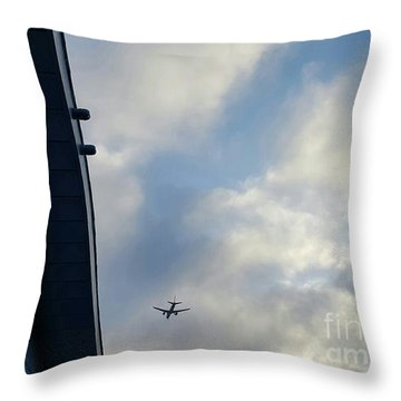Living In The Landing Zone  Throw Pillow by Angela J Wright