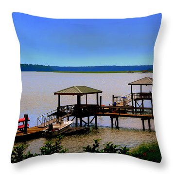 Living In The Lowcountry Throw Pillow