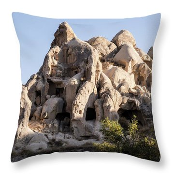 Living In Tufa Throw Pillow by Kathy McClure