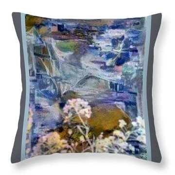 Living It Throw Pillow by Ray Tapajna