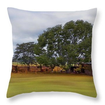 Living On The Land 0004 Throw Pillow by Kevin Chippindall