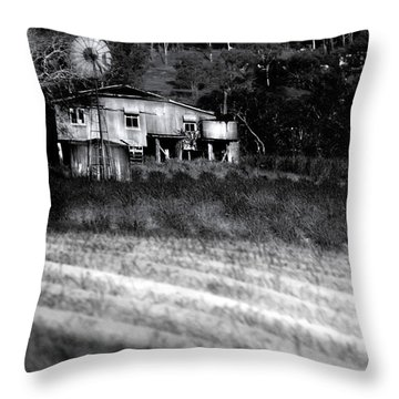 Living On The Land Throw Pillow by Holly Kempe