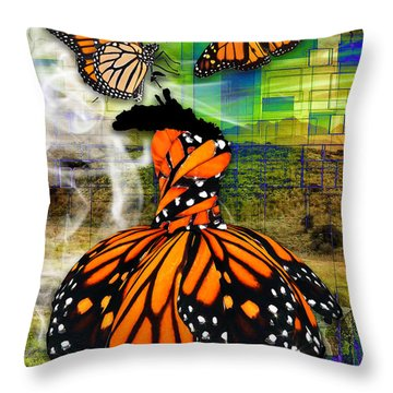 Throw Pillow featuring the mixed media Living One's Destiny by Marvin Blaine