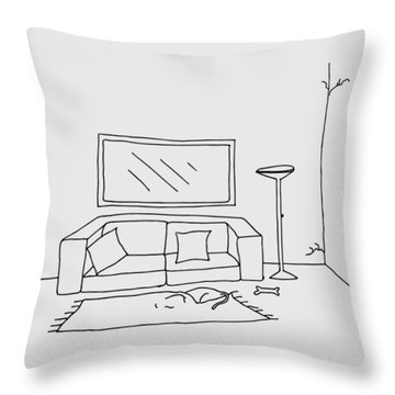 Living Room 001 Throw Pillow
