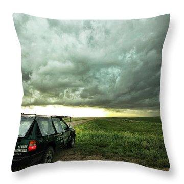 Living Saskatchewan Sky Throw Pillow by Ryan Crouse