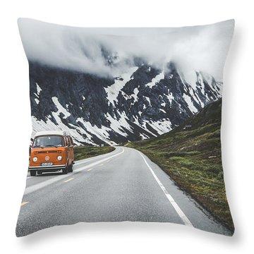 Winter Scene Throw Pillows