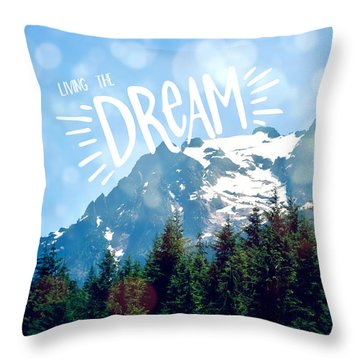 Throw Pillow featuring the photograph Living The Dream by Robin Dickinson