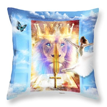 Living Word Of God Throw Pillow by Dolores Develde