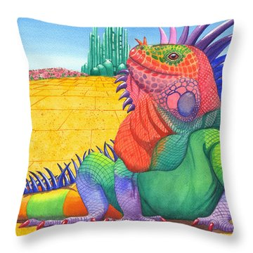 Lizard Of Oz Throw Pillow
