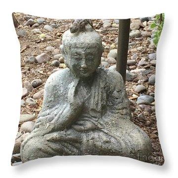 Lizard Zen Throw Pillow