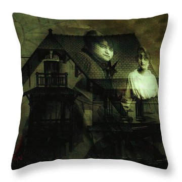 Lizzie And Her Sister Throw Pillow