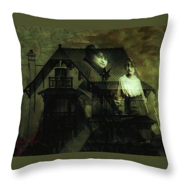 Throw Pillow featuring the digital art Lizzie And Her Sister by Delight Worthyn