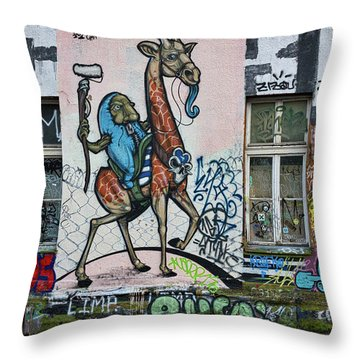 Throw Pillow featuring the photograph Ljubljana Graffiti - Slovenia by Stuart Litoff