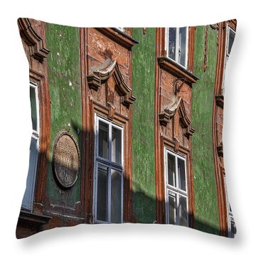 Throw Pillow featuring the photograph Ljubljana Windows #2 - Slovenia by Stuart Litoff