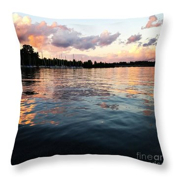 Lkn Water And Sky II Throw Pillow
