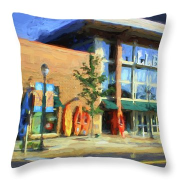 Ll Bean Store At The Promenade In Pa Throw Pillow by Heinz G Mielke