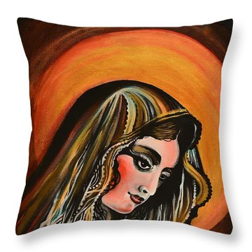 lLady of sorrows Throw Pillow