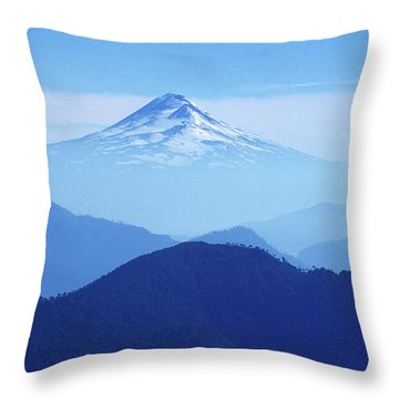 Llaima Volcano Chile Throw Pillow by James Brunker