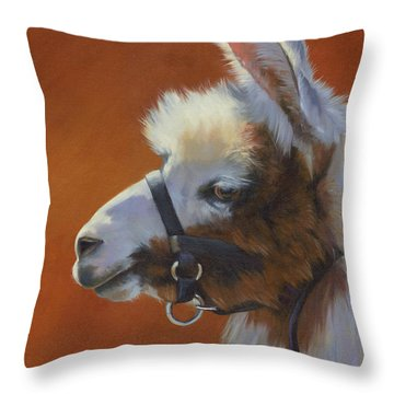 Llama Love Throw Pillow by Alecia Underhill