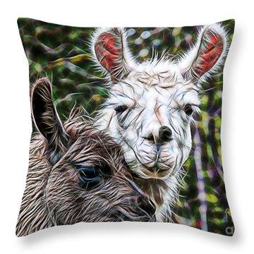 Llamas Throw Pillow