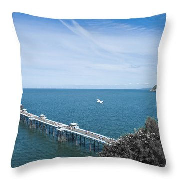 Llandudno Pier Throw Pillow by Svetlana Sewell