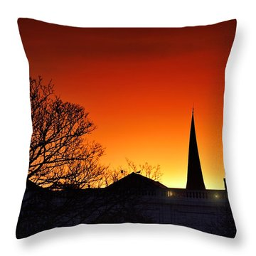 Llanelli Rooftops Throw Pillow