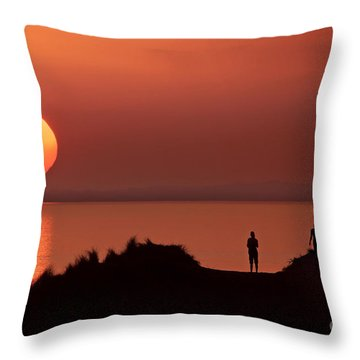 Llangennith Late Summer Days Throw Pillow