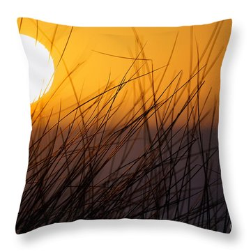 Llangennith Sun Throw Pillow