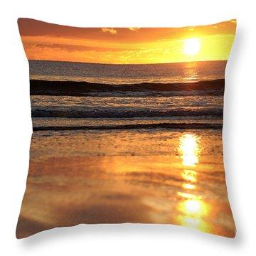 Llangennith Sundown Throw Pillow