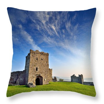 Llansteffan Castle 1 Throw Pillow