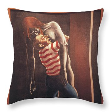 Throw Pillow featuring the painting Llego' Con Tres Heridas by William Hart McNichols