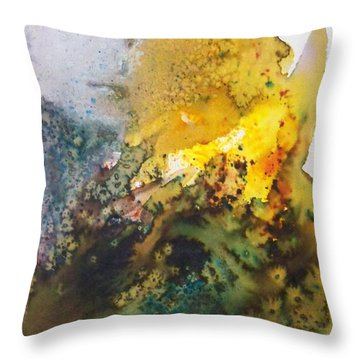 Throw Pillow featuring the painting Llywelyn From Luxembourg by Ed  Heaton