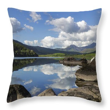 Llyn Mymbyr And Snowdon Panorama Throw Pillow