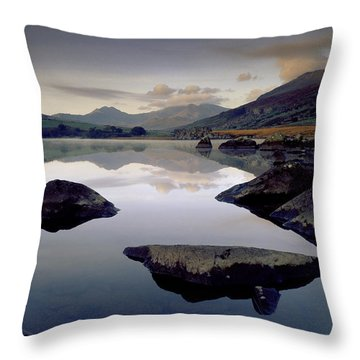 Llynnau Mymbyr Throw Pillow