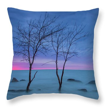 Lm Trees Throw Pillow