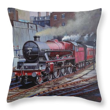 Throw Pillow featuring the painting Lms Jubilee At New Street. by Mike  Jeffries