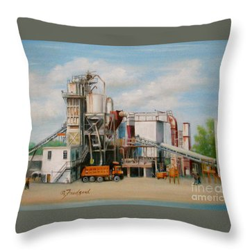 Load  The Big Orange Truck Throw Pillow