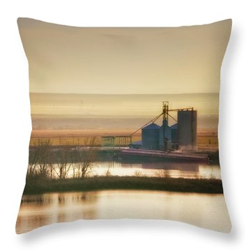 Throw Pillow featuring the photograph Loading Grain by Albert Seger