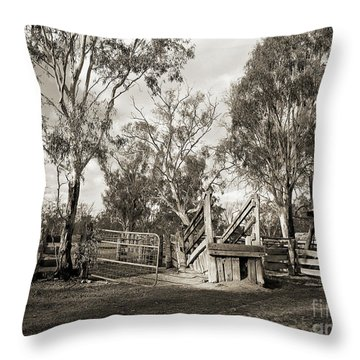 Throw Pillow featuring the photograph Loading Ramp by Linda Lees