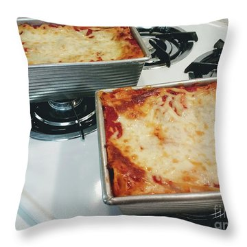 Throw Pillow featuring the photograph Loaf Pan Lasagna 1 by Andee Design
