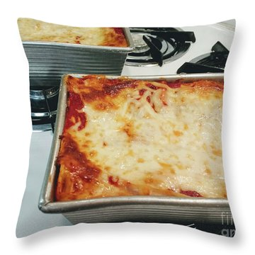 Throw Pillow featuring the photograph Loaf Pan Lasagna 2 by Andee Design
